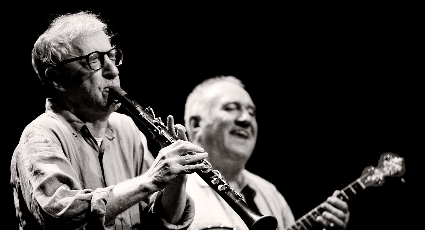 Woody Allen and the new orleans jazz band